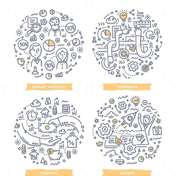 Startup Doodle Illustrations