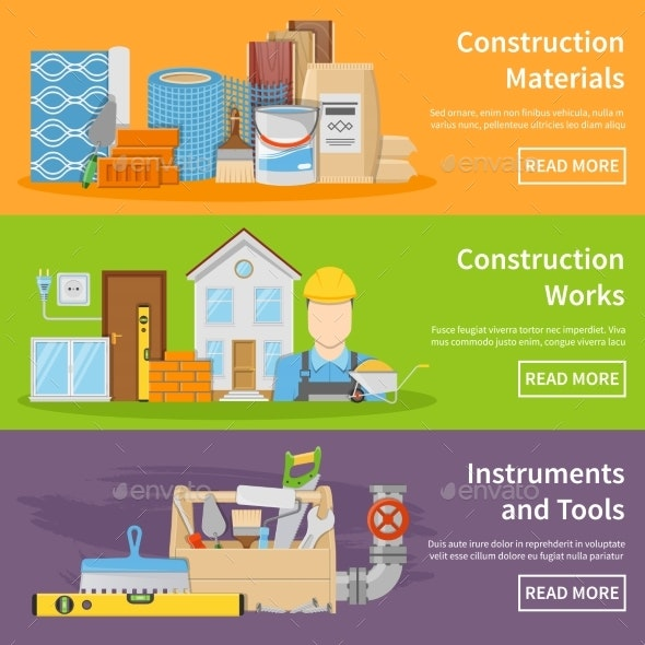 Construction Materials Banners - Industries Business