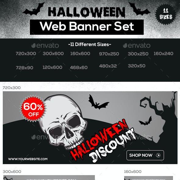 Halloween Web Banner Set