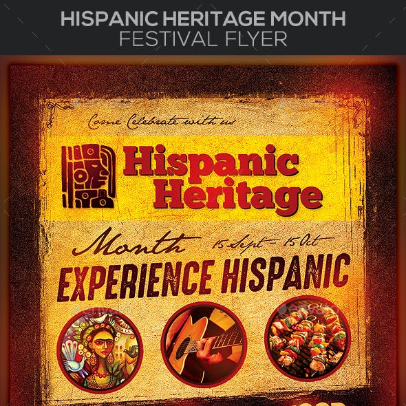 Hispanic Heritage Month Festival Flyer