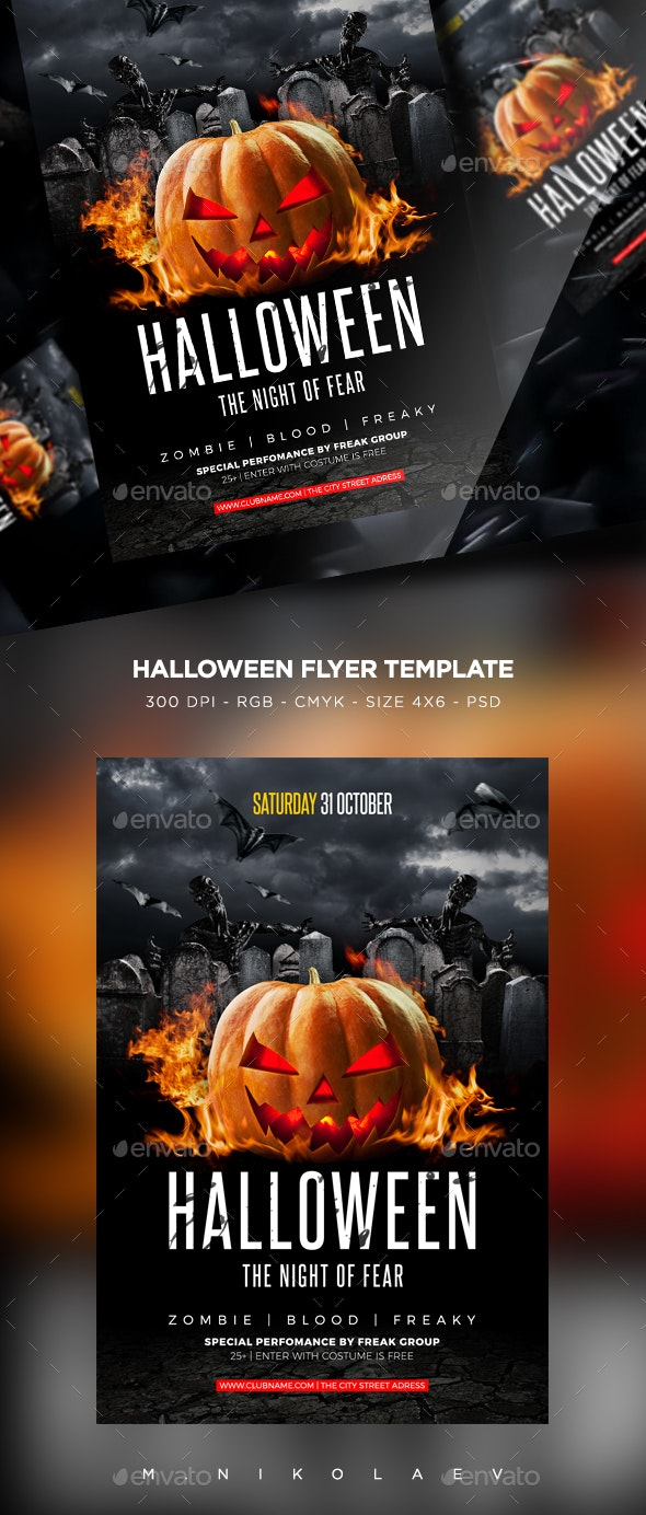 Halloween Flyer V21 - Clubs & Parties Events