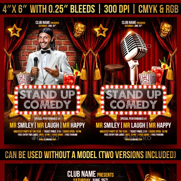 Stand Up Comedy Flyer Temlapte