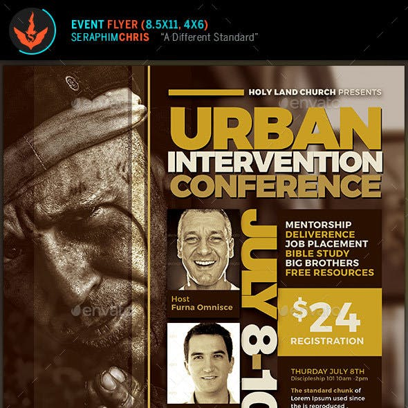 Urban Intervention Conference Flyer Template