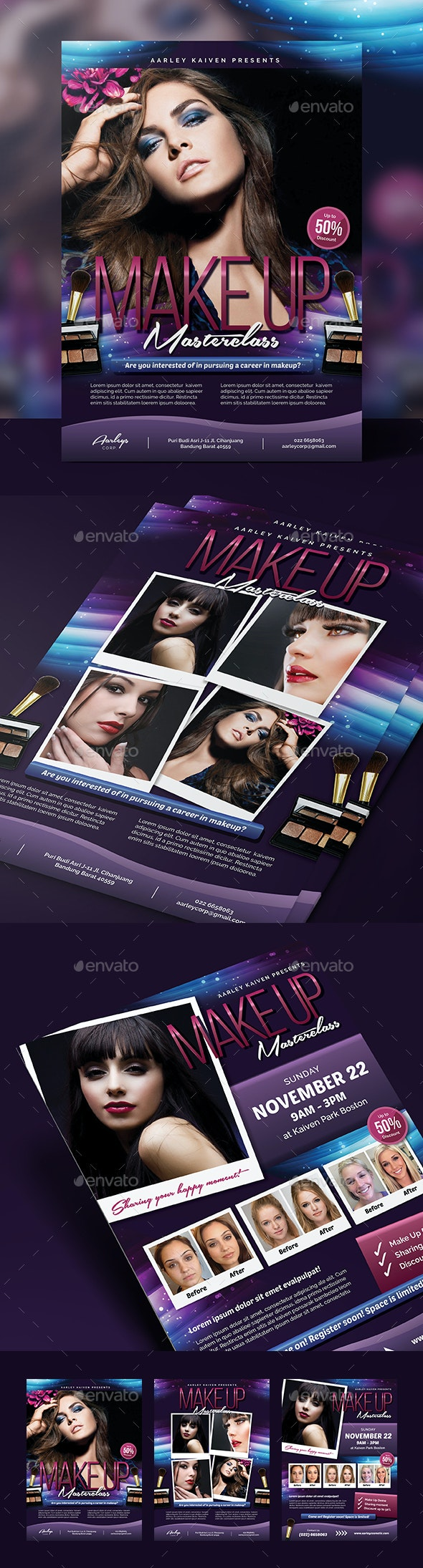 Beauty Make-up / Cosmetic Flyer - Commerce Flyers