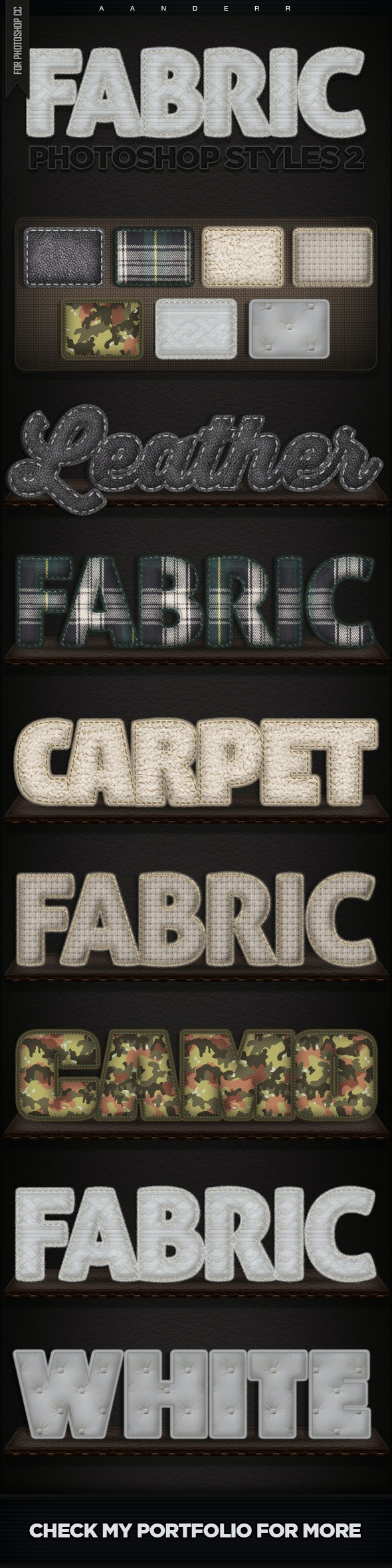 Fabric Photoshop Styles 2 - Text Effects Styles
