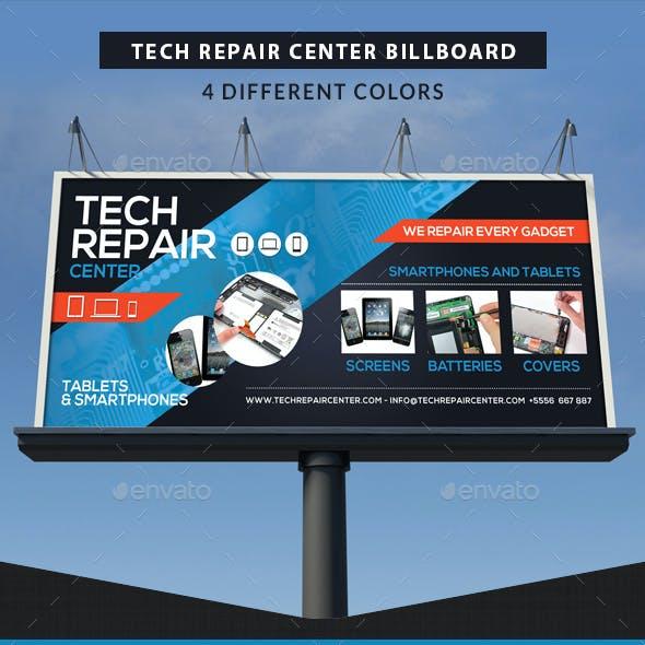 Tech Repair Center Signage Billboard Template