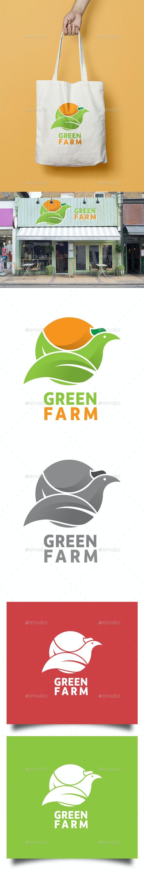 Green Farm Logo - Animals Logo Templates
