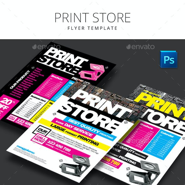 Print Store Flyer