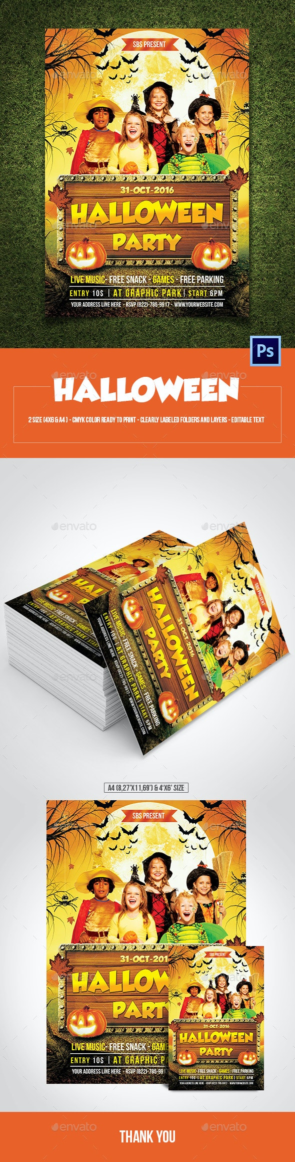 Kids Halloween Party - Events Flyers