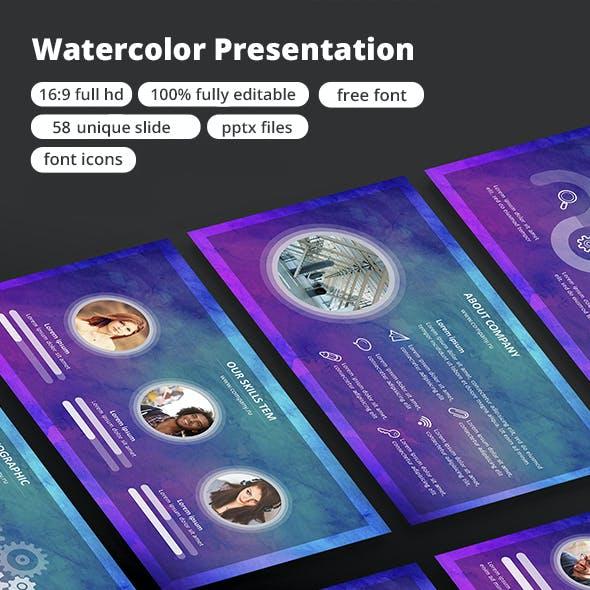 Watercolor - Google Slide