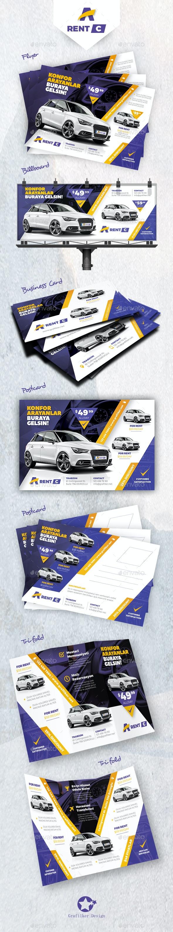 Ren A Car Bundle Templates - Corporate Flyers