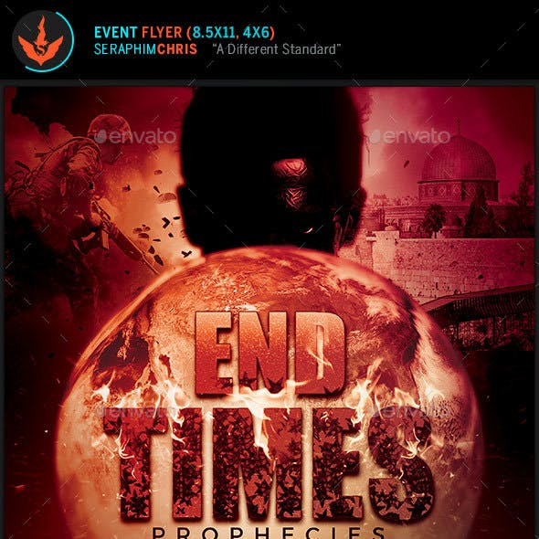 End Times Prophecies Conference Flyer Template