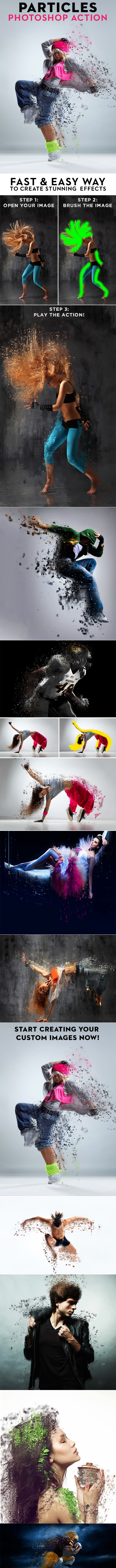 PARTICLES Photoshop Action - Photo Effects Actions