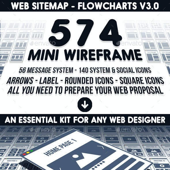 Web Sitemap - Flowcharts v3.0