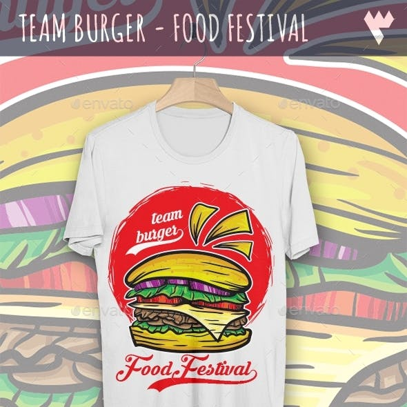 Team Burger - Food Festival T-Shirt