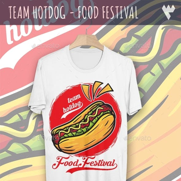 Team Hot Dog - Food Festival T-Shirt