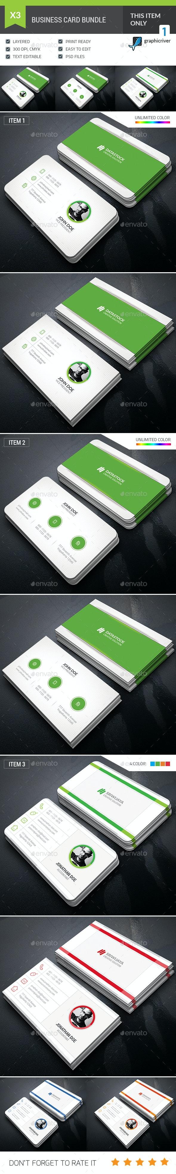 Minimalist Business Card Bundle - Corporate Business Cards