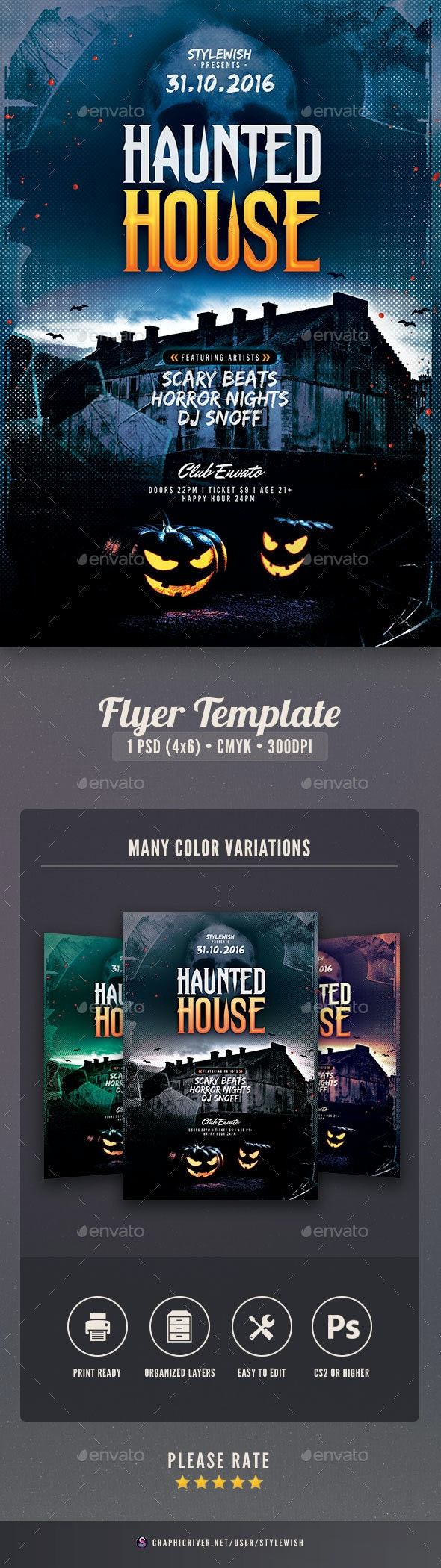 Haunted House Flyer - Clubs & Parties Events