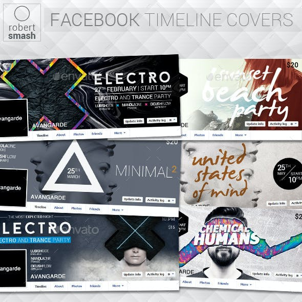 6 Music Event Facebook Timeline Covers vol.7
