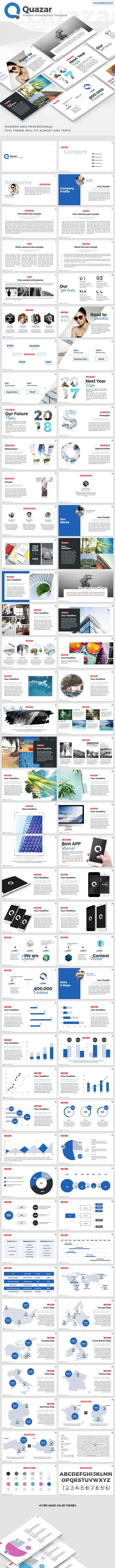 Quazar - Modern PowerPoint Template - Business PowerPoint Templates