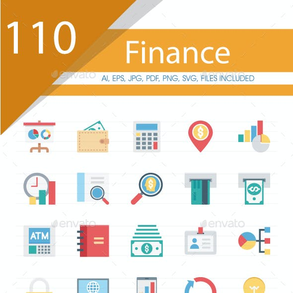 110 Finance Colored Icons