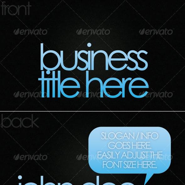 Modern - Dark Business Card