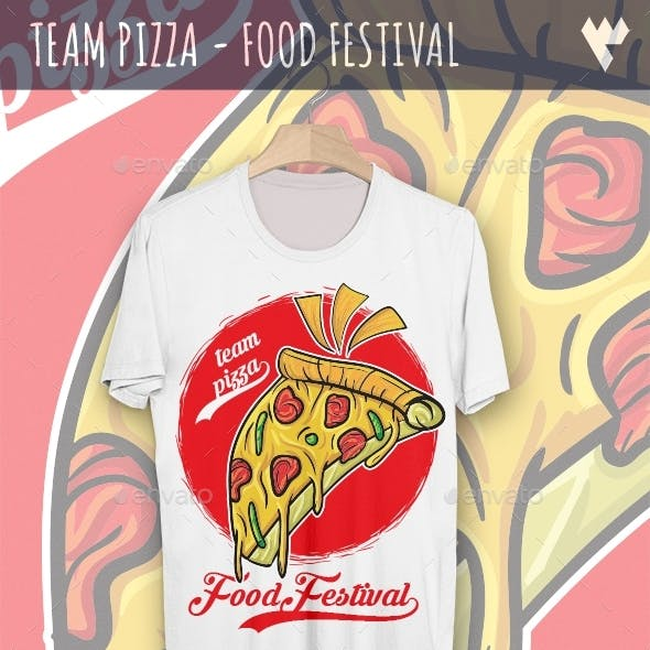 Team Pizza - Food Festival T-Shirt