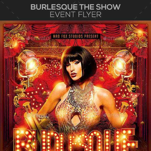 Burlesque The Show Event / Party Flyer