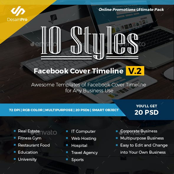 10 Multipurpose Facebook Cover Timeline V2