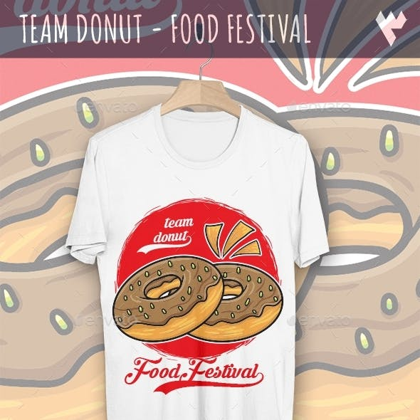 Team Donut - Food Festival T-Shirt