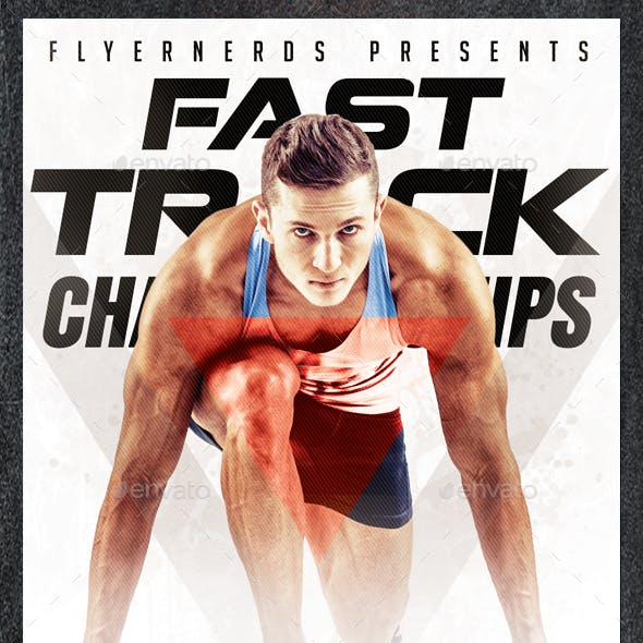 Fast Track Athletic Championships Sports Flyer