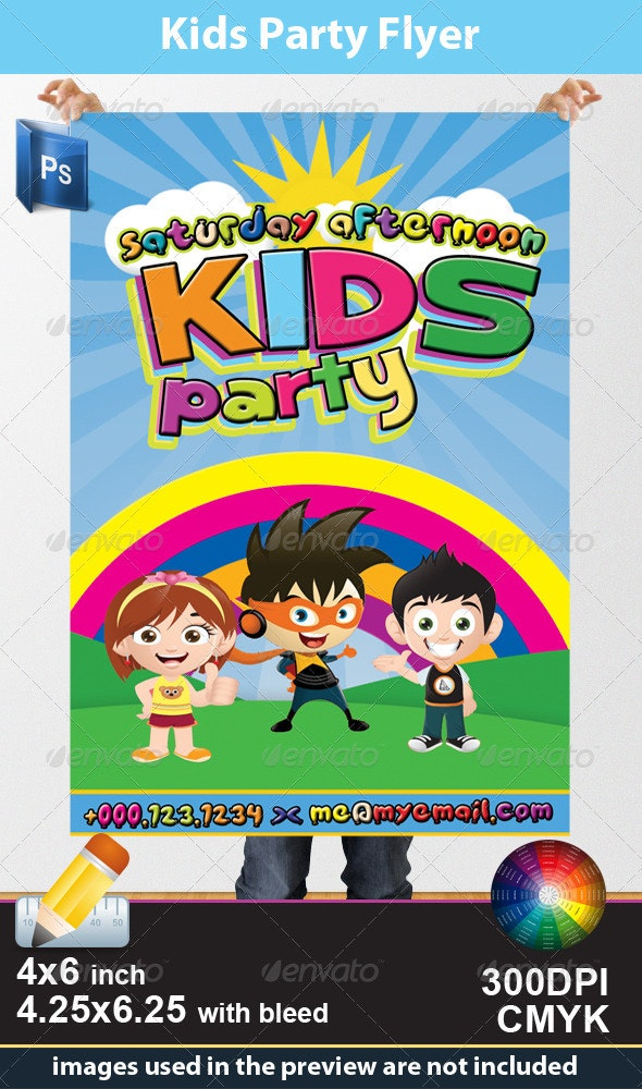 Kids Party Flyer - Miscellaneous Events