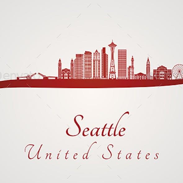 Seattle V2 Skyline in Red