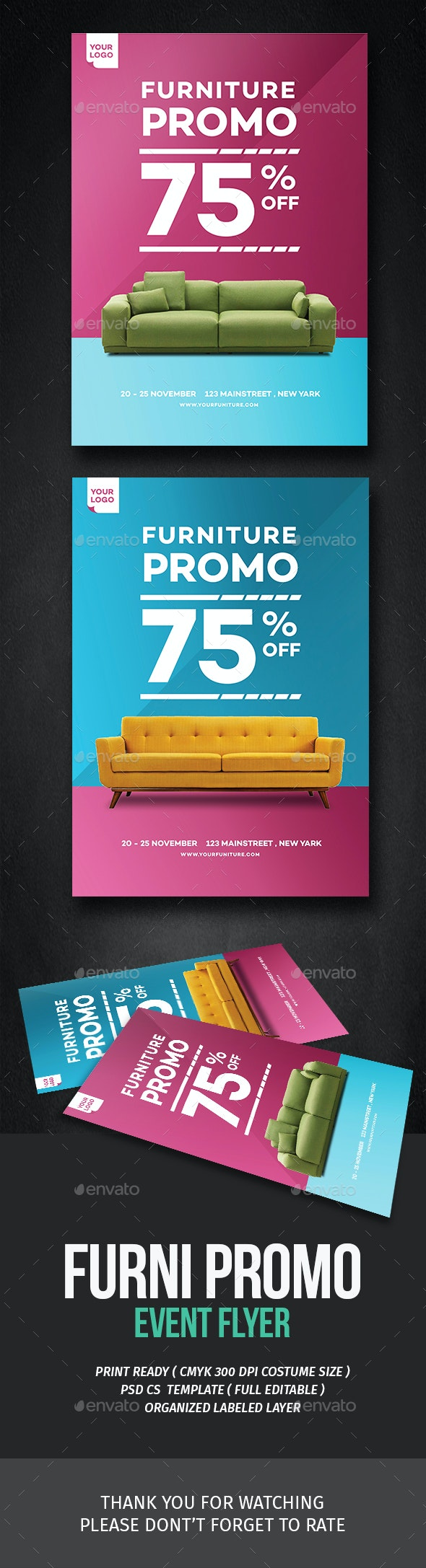 Home Furniture Promo Flyer - Commerce Flyers