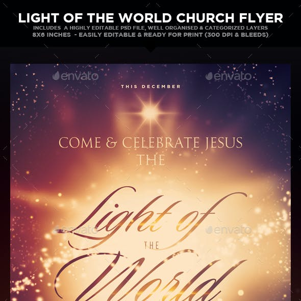 Light of the World - Church Christian Themed Flyer