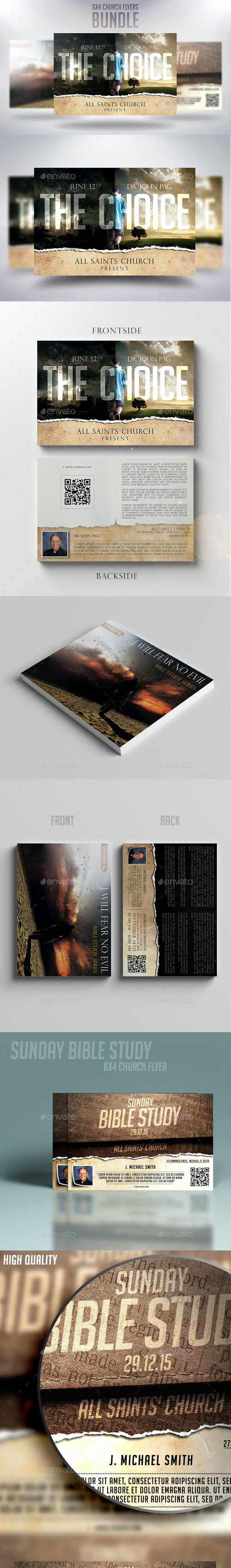 6x4 Church Flyers Bundle Vol.3 - Church Flyers