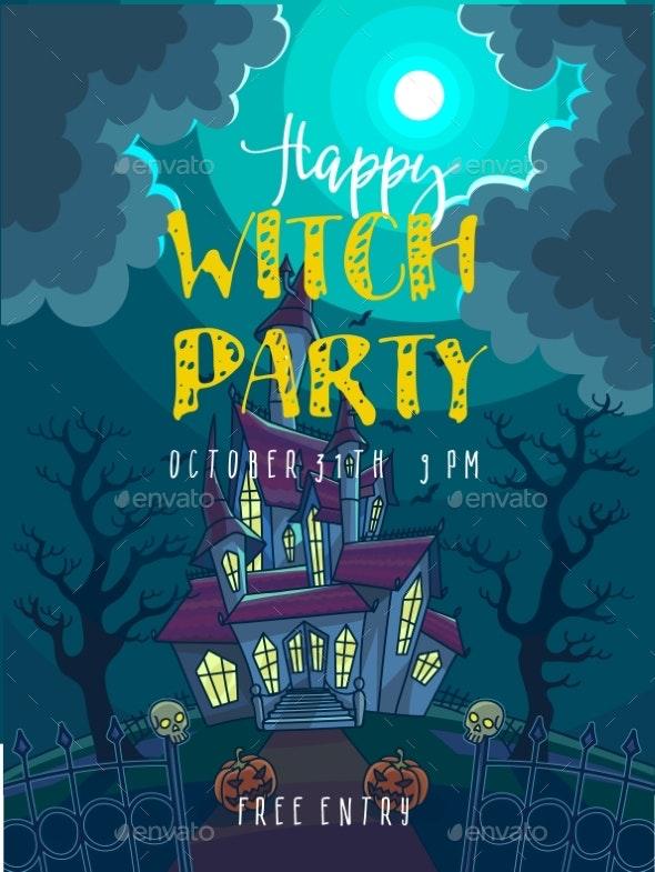 Halloween Party Poster. Halloween Vector - Halloween Seasons/Holidays