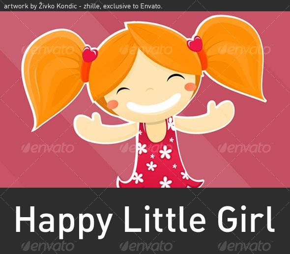 Happy Little Girl - People Characters