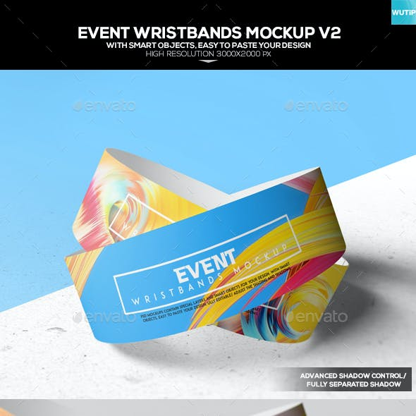 Event Wristbands Mockup V2