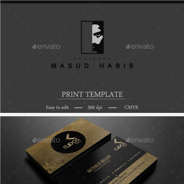 Gold And Black Business Card 5