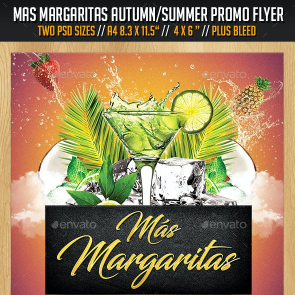 Mas Margaritas Autumn / Summer Promo Flyer