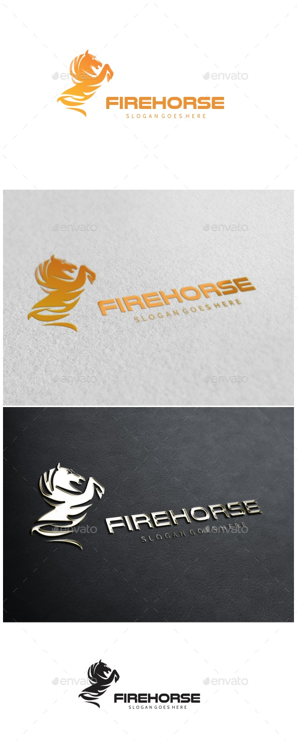 Fire Horse Logo - Animals Logo Templates