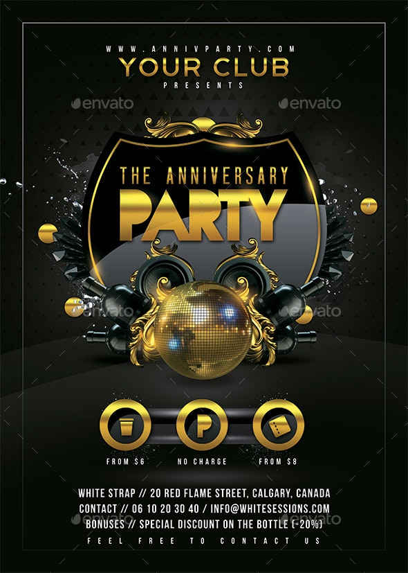 Anniversary Party - Clubs & Parties Events