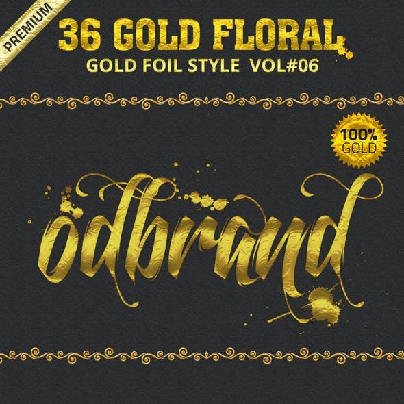 36 Gold Foil Styles Vol.6