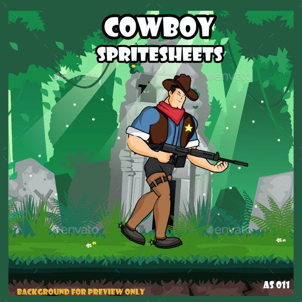 The Cowboy Spritesheet Character