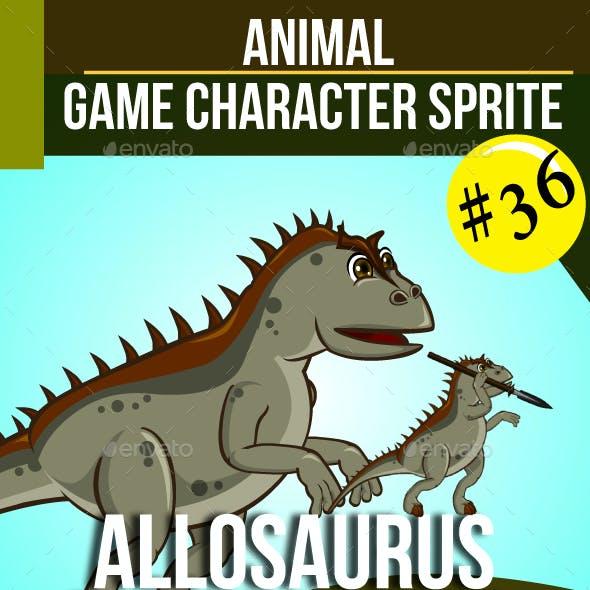 Allosaurus Dinosaur Sprite Character
