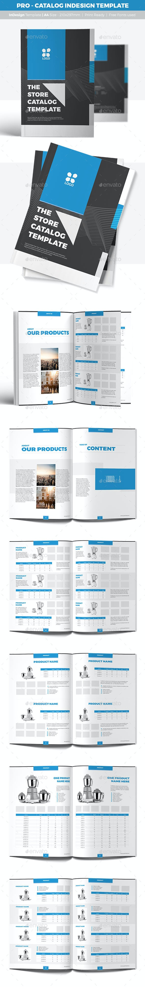 PRO - Catalog InDesign Template - Catalogs Brochures