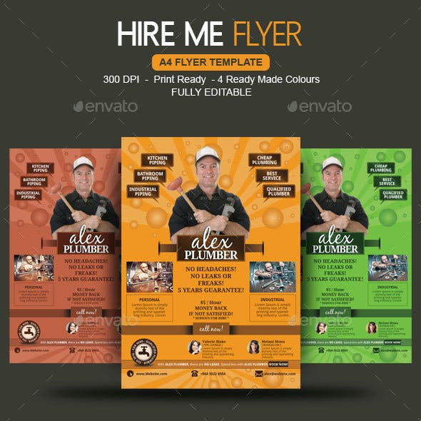 CV Ideas Hire Me Flyer