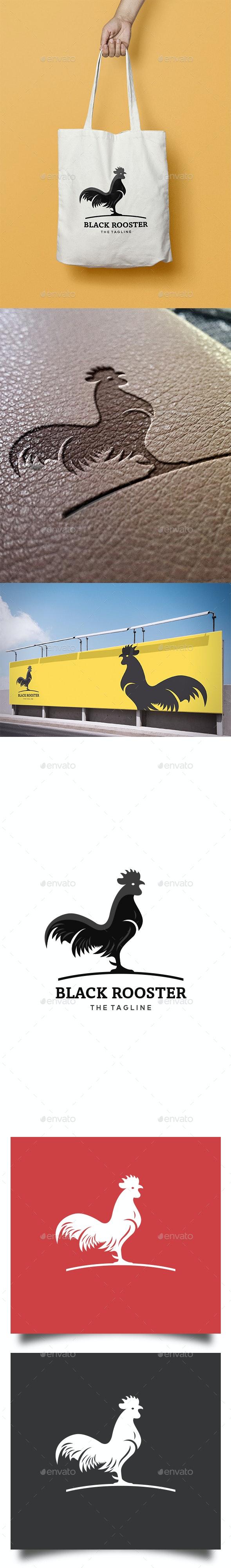 Black Rooster Logo - Animals Logo Templates