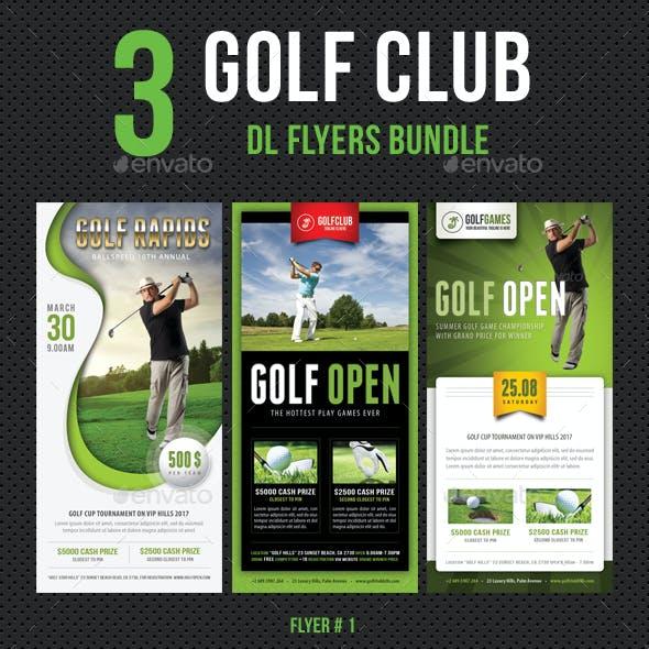 3 in 1 Golf Club DL Flyer Bundle V2
